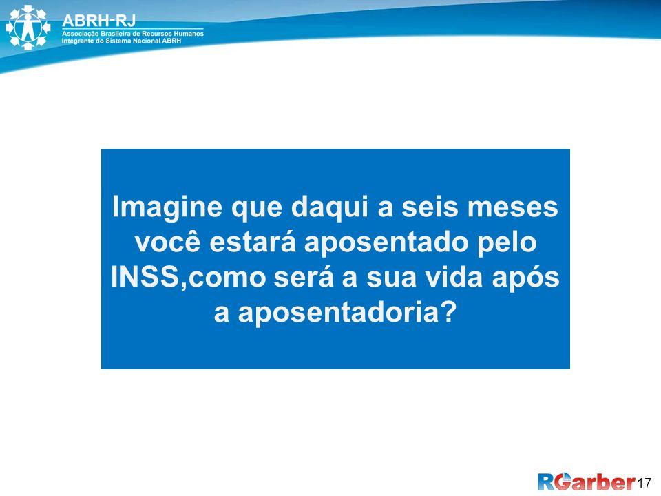 17 Imagine que daqui a seis meses você estará aposentado pelo INSS,como será a sua vida após a aposentadoria?