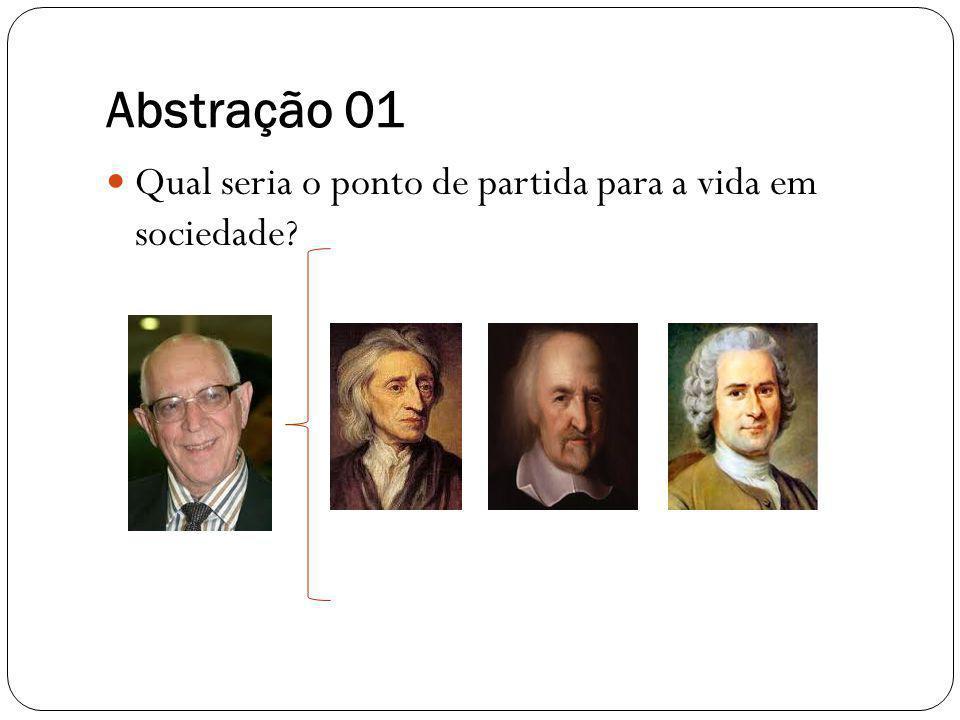 Abstração 01 Qual seria o ponto de partida para a vida em sociedade?