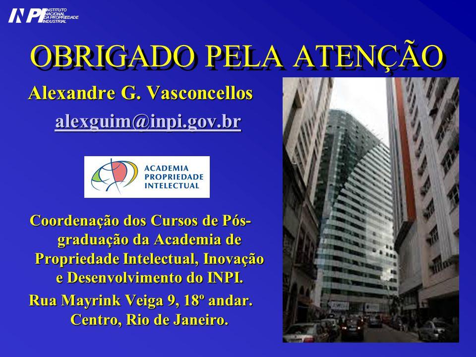OBRIGADO PELA ATENÇÃO Alexandre G.