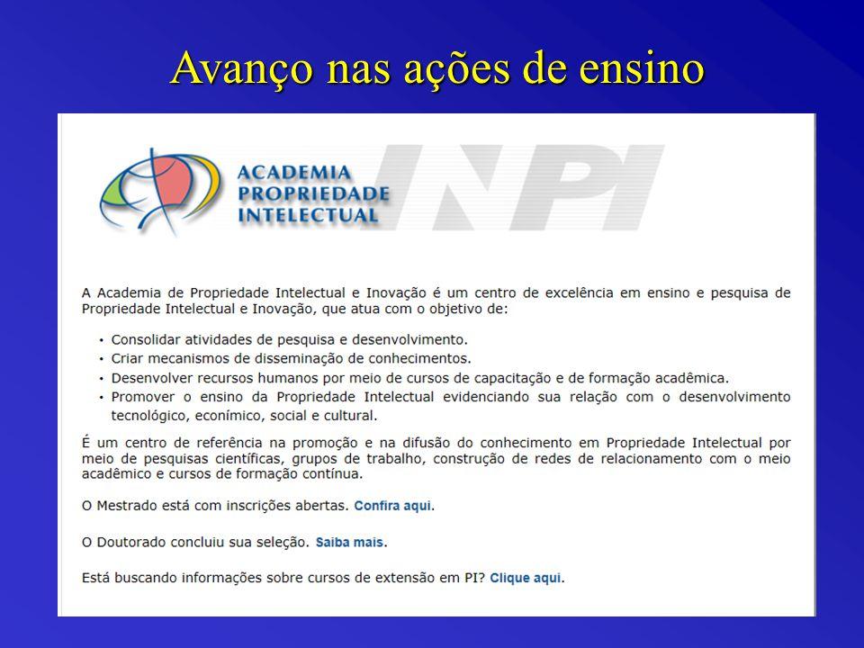 Mestrado Profissional em Propriedade Intelectual e Inovação Aprovado pela CAPES em 28/08/06.