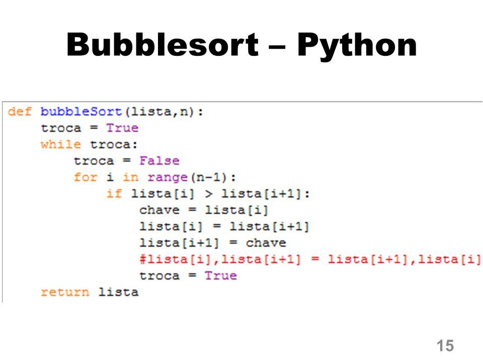 Bubblesort – Python 15