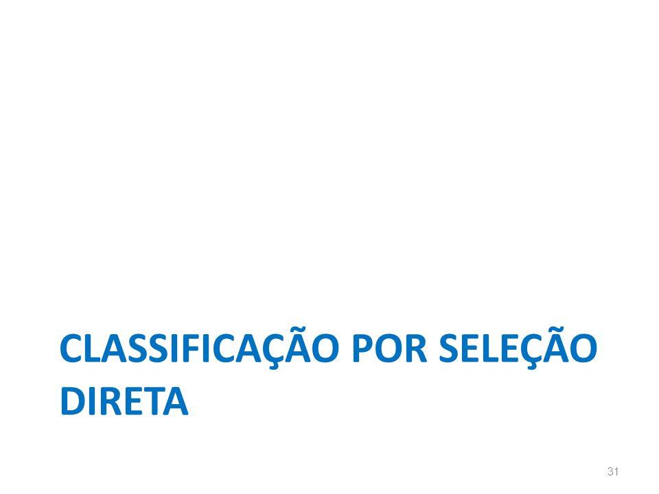 CLASSIFICAÇÃO POR SELEÇÃO DIRETA 31
