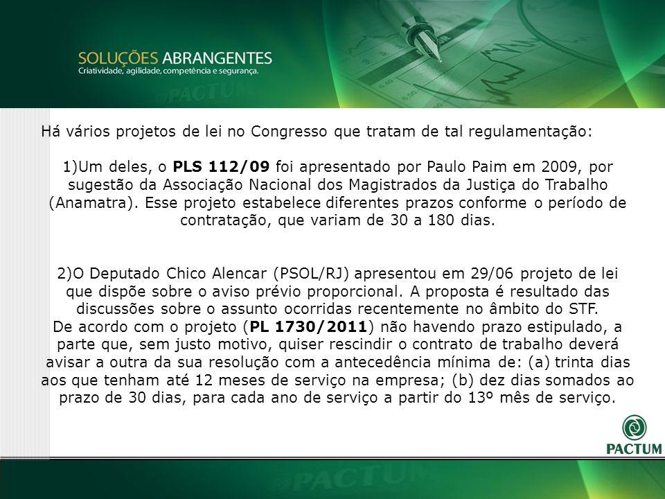 33 Há vários projetos de lei no Congresso que tratam de tal regulamentação: 1)Um deles, o PLS 112/09 foi apresentado por Paulo Paim em 2009, por sugestão da Associação Nacional dos Magistrados da Justiça do Trabalho (Anamatra).