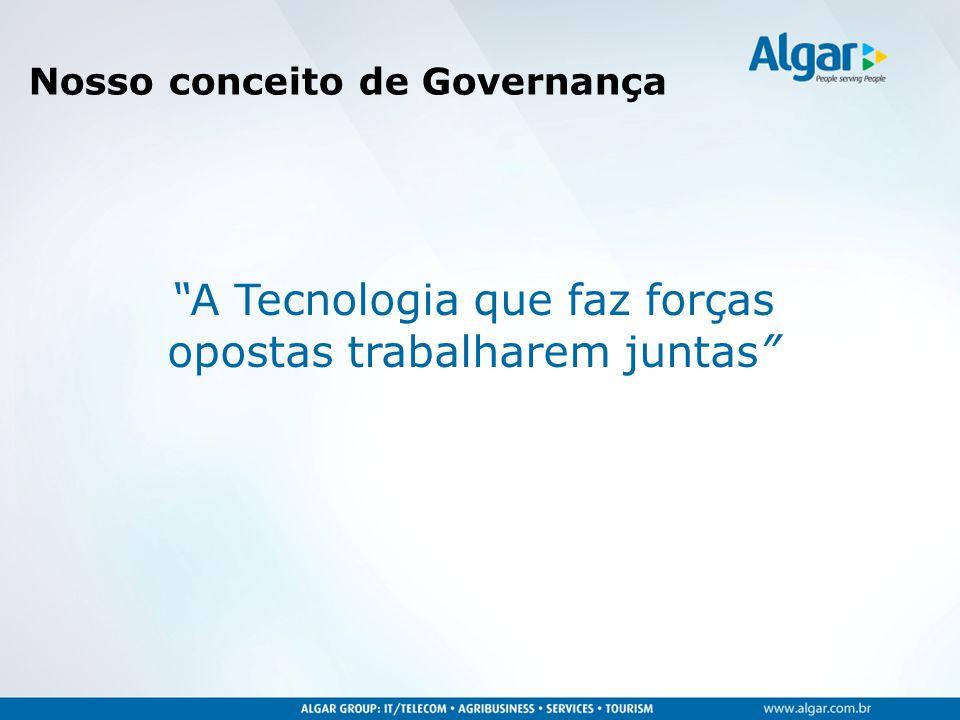 """""""A Tecnologia que faz forças opostas trabalharem juntas"""" Nosso conceito de Governança"""