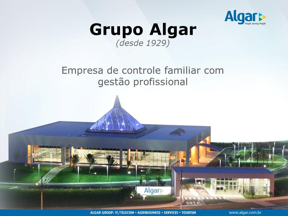 Grupo Algar (desde 1929) Empresa de controle familiar com gestão profissional