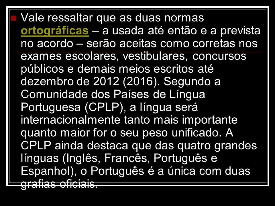 No Brasil, apenas cerca de 0,5% das palavras devem ser modificadas.