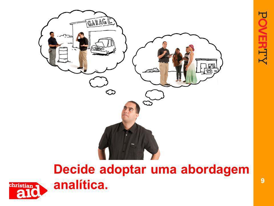 9 Decide adoptar uma abordagem analítica.