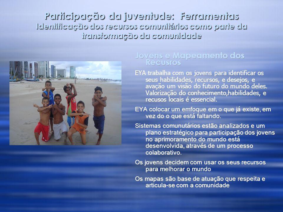 Produção do conhecimento dos grupos socialmente excluidos para subsidar o processo de consorciamento Mapeamento Comunitário na região metropolitana de Fortaleza:  Trabalhos de Mapeamento serão realizados com jovens de Maracanã �, Caucaia, Maranguape.