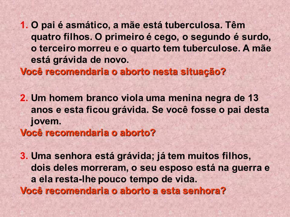 Vamos apresentar a seguir, os cinco casos de gravidez para uma reflexão e resposta sincera no seu coração