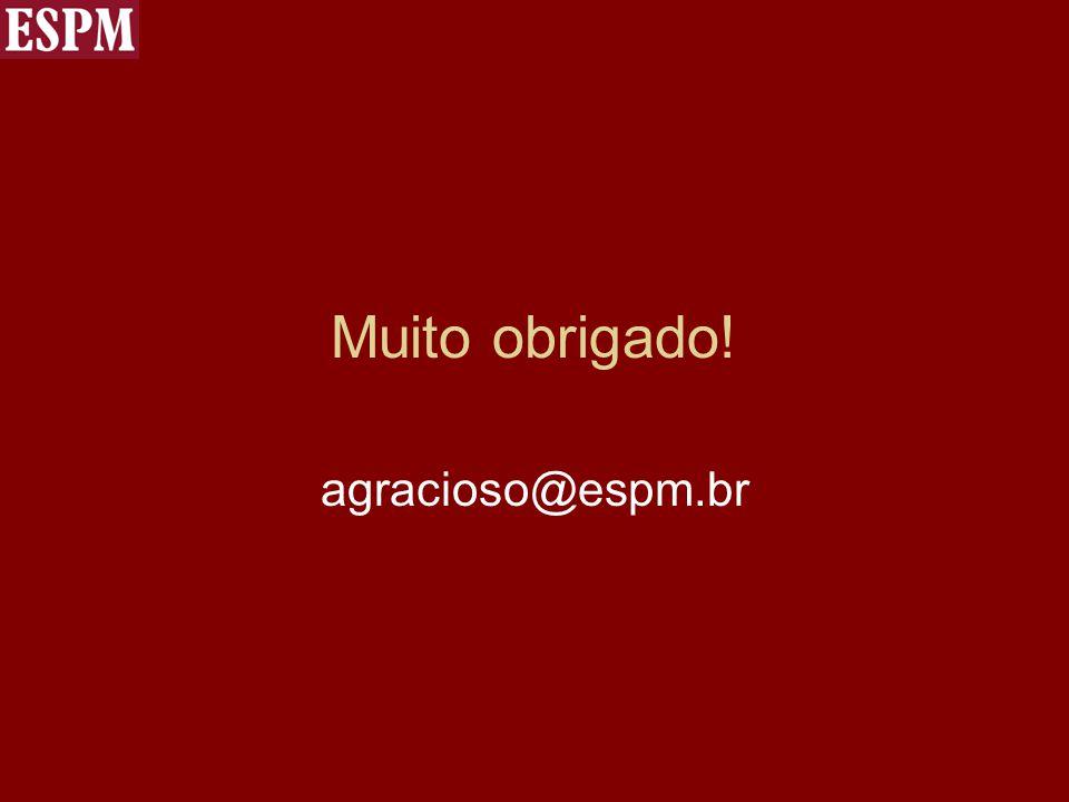 Muito obrigado! agracioso@espm.br