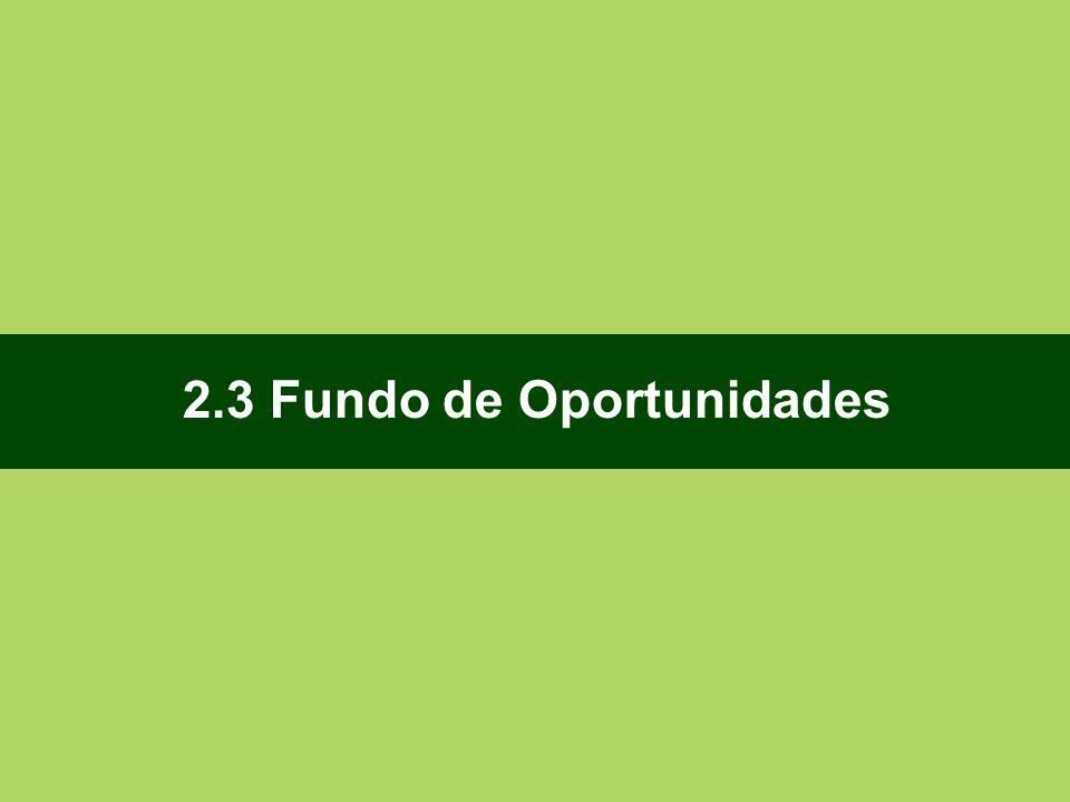 2.3 Fundo de Oportunidades