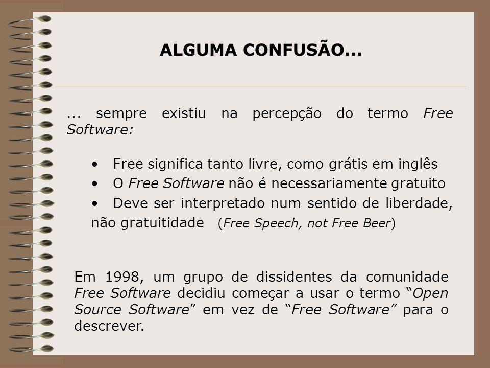ALGUMA CONFUSÃO......