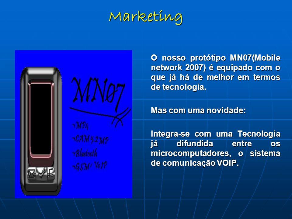 O nosso protótipo MN07(Mobile network 2007) é equipado com o que já há de melhor em termos de tecnologia.
