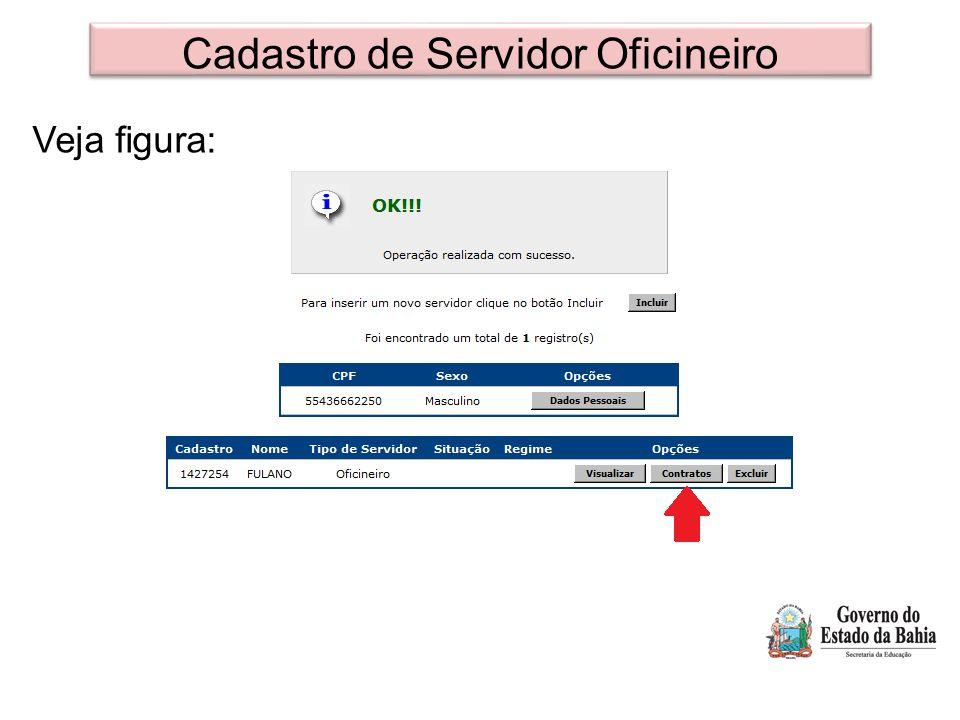 Cadastro de Servidor Oficineiro Veja figura: