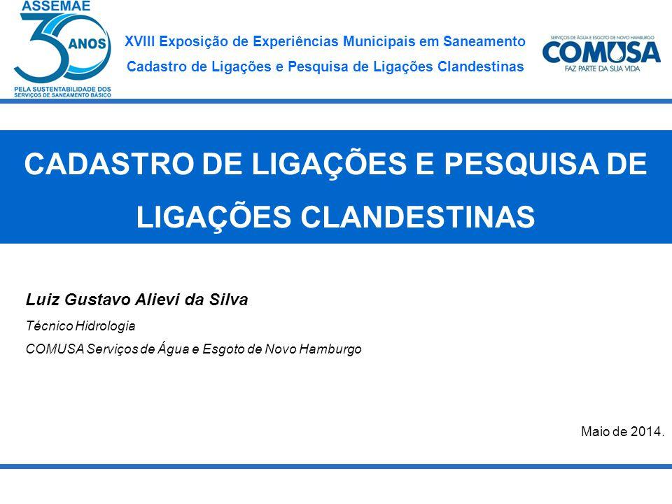 XVIII Exposição de Experiências Municipais em Saneamento Cadastro de Ligações e Pesquisa de Ligações Clandestinas RESULTADOS