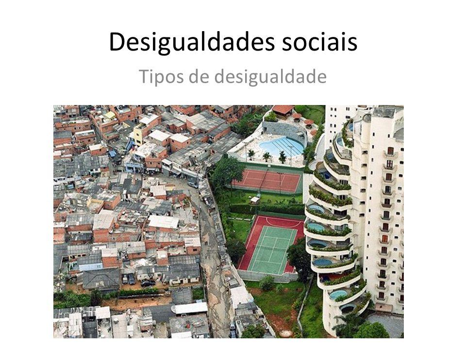Desigualdades sociais Tipos de desigualdade