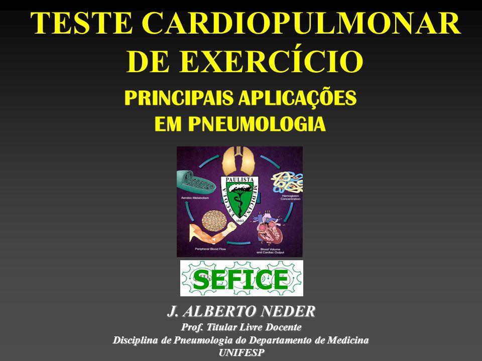 TESTE CARDIOPULMONAR DE EXERCÍCIO PRINCIPAIS APLICAÇÕES EM PNEUMOLOGIA J.