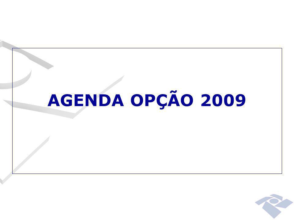 AGENDA OPÇÃO 2009