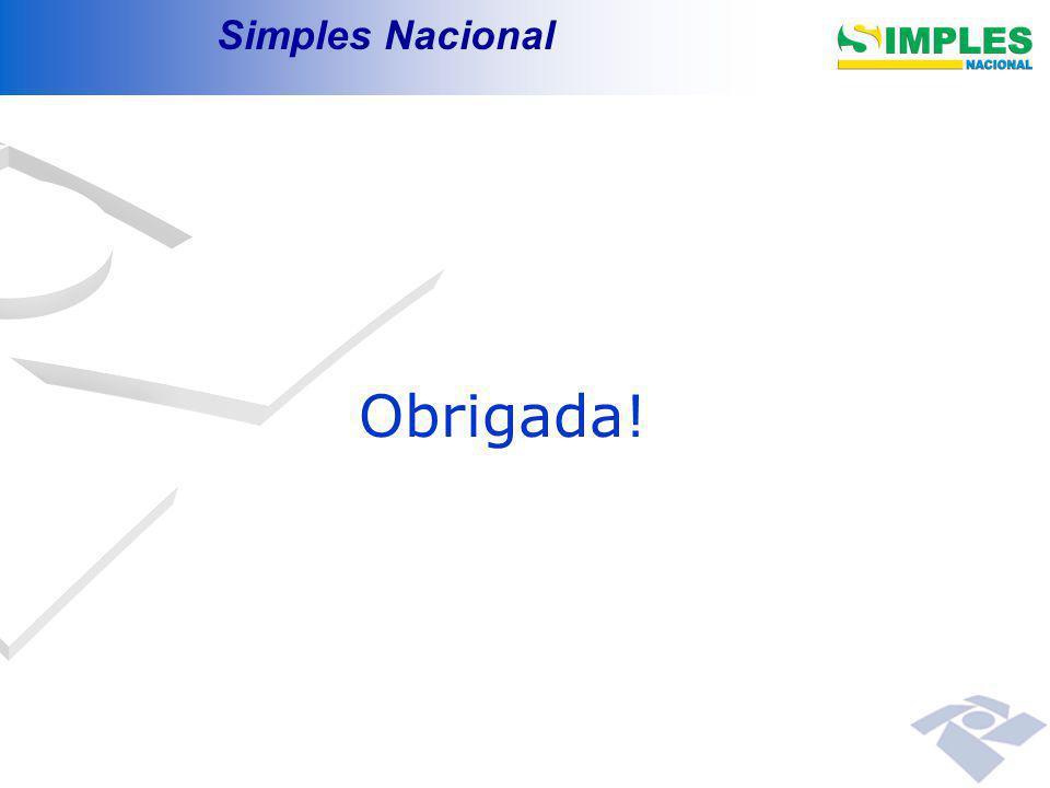 Simples Nacional Obrigada!