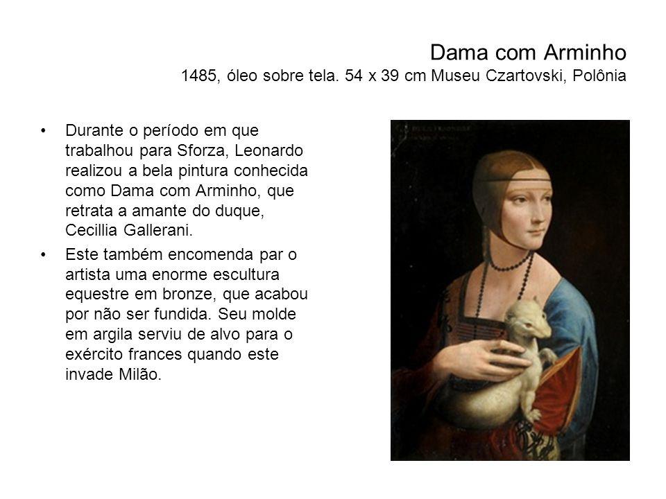 Dama com Arminho 1485, óleo sobre tela.