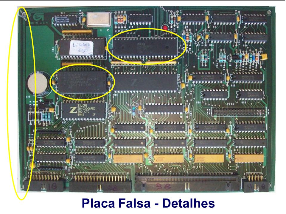 Placa Falsa - Detalhes