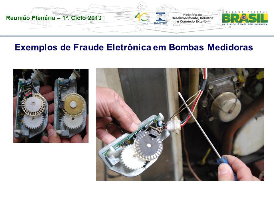 Reunião Plenária – 1º. Ciclo 2013 Exemplos de Fraude Eletrônica em Bombas Medidoras