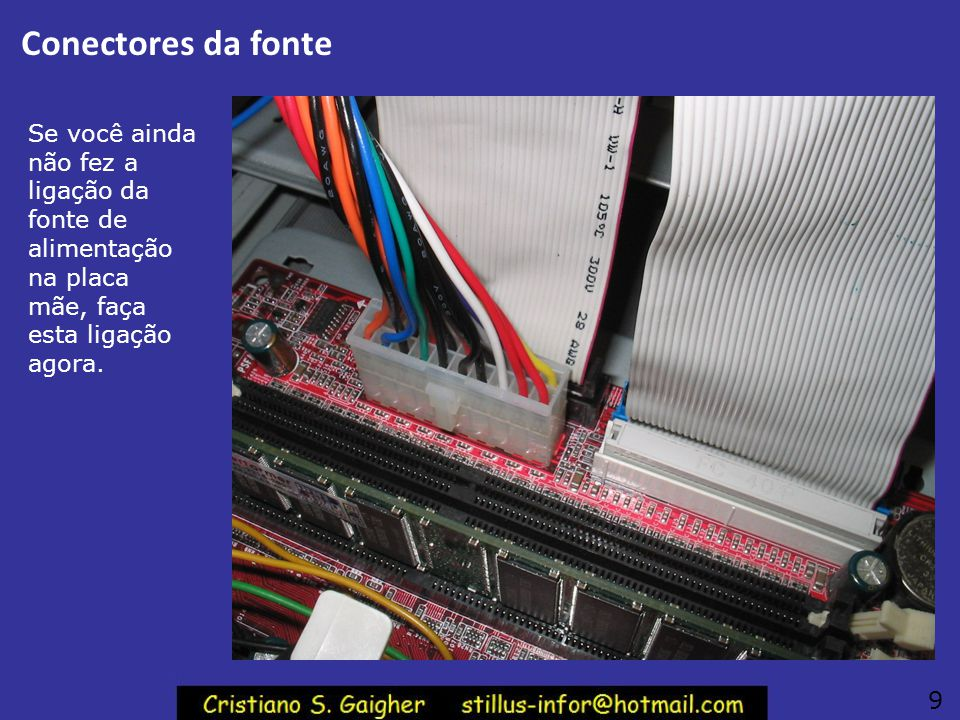 Parafusos da placa de CPU Veja o parafuso ao lado: foi aparafusado pela metade. É assim que você deve colocar inicialmente os parafusos que fixarão a