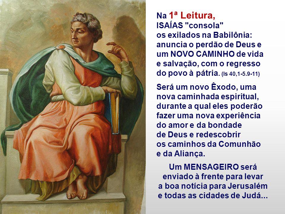 Nesse segundo domingo do Advento, a VOZ profética de ISAÍAS e JOÃO BATISTA ressoa num apelo de conversão para a vinda do Senhor. As Leituras convidam