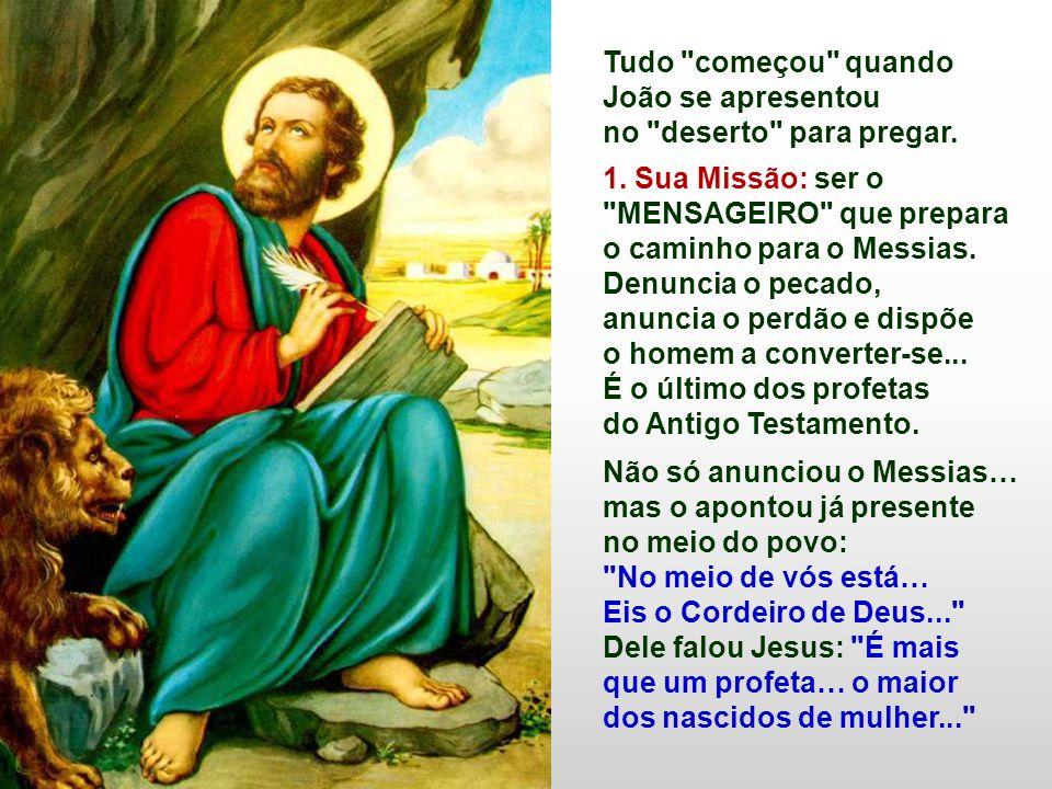 No Evangelho, JOÃO BATISTA aponta o CAMINHO para acolher o Messias Libertador (Nc 1,1-8) Introduz o Evangelho de Marcos, que leremos nesse ano (B): A Boa Notícia começa com um grande chamado à conversão.