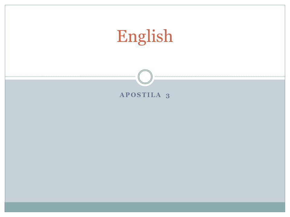 APOSTILA 3 English