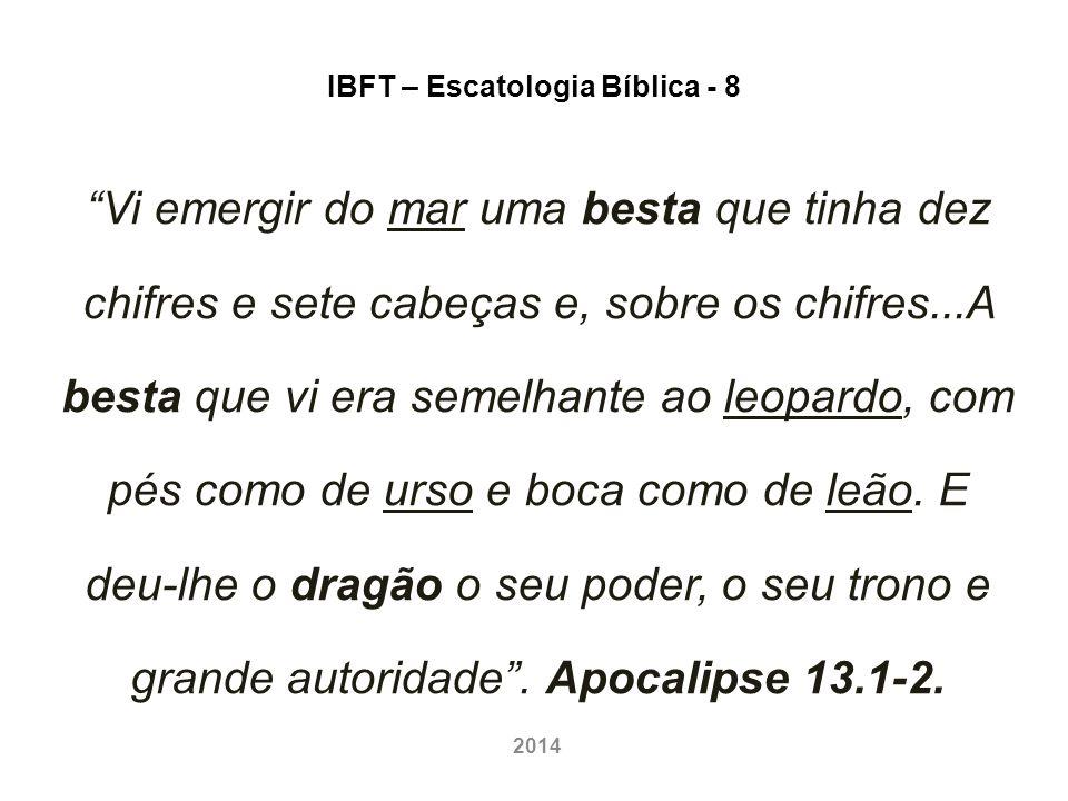 IBFT – Escatologia Bíblica - 8 1º Paralelo: MATEUS 24.3-14 – ocorre, aí, a Primeira Fase da TRIBULAÇÃO (3 anos e meio).