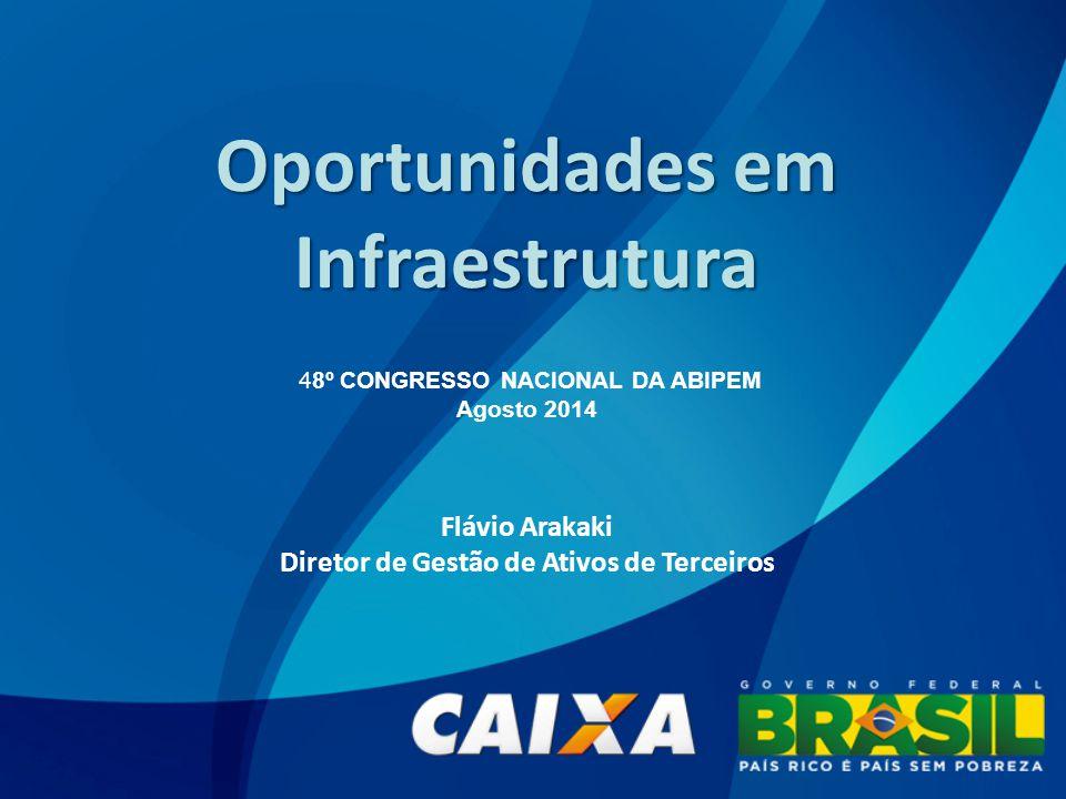 Oportunidades em Infraestrutura 48º CONGRESSO NACIONAL DA ABIPEM Agosto 2014 Flávio Arakaki Diretor de Gestão de Ativos de Terceiros