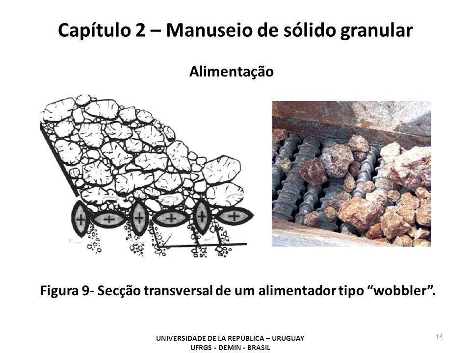 14 UNIVERSIDADE DE LA REPUBLICA – URUGUAY UFRGS - DEMIN - BRASIL Capítulo 2 – Manuseio de sólido granular Figura 9- Secção transversal de um alimentad