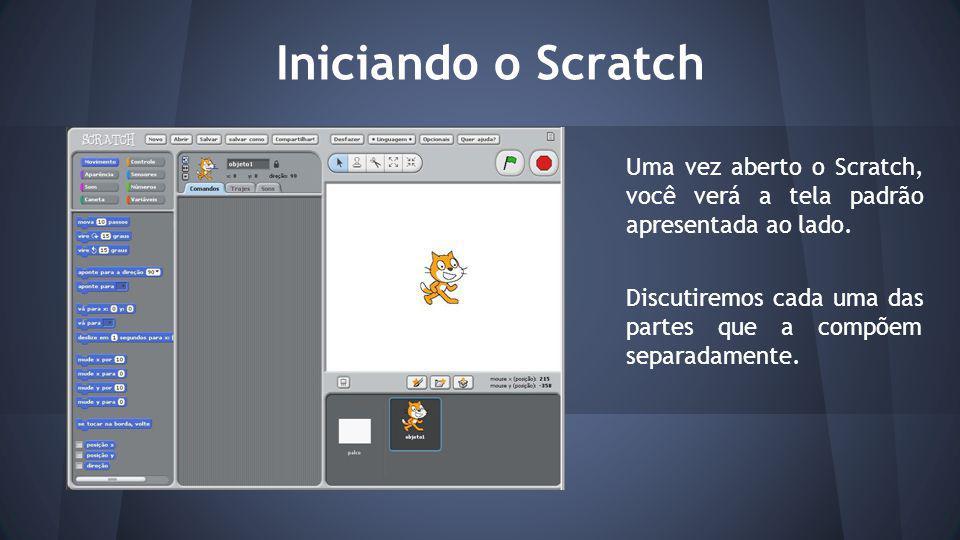 Escolhendo o sprite do arquivo Scratch possui diversas categorias de sprites.