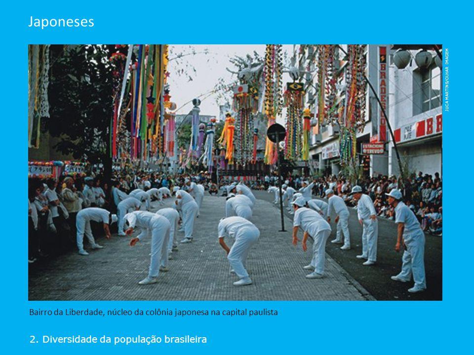 2. Diversidade da população brasileira Japoneses Bairro da Liberdade, núcleo da colônia japonesa na capital paulista JUCA MARTINS/OLHAR IMAGEM