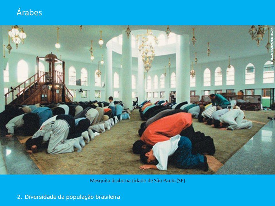 2. Diversidade da população brasileira Árabes Mesquita árabe na cidade de São Paulo (SP) GUSTAVO ROTH/FOLHA IMAGEM