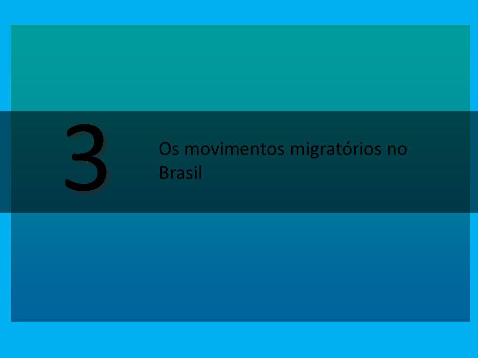 3 3 Os movimentos migratórios no Brasil