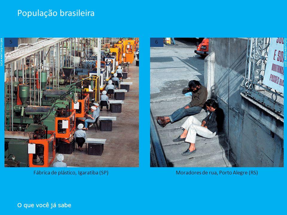 LUIZ ABREU/NEXTFOTO JUCA MARTINS/PULSAR O que você já sabe População brasileira Fábrica de plástico, Igaratiba (SP)Moradores de rua, Porto Alegre (RS)