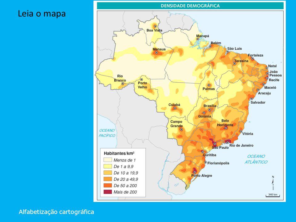 Alfabetização cartográfica Leia o mapa