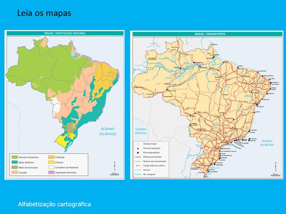 Alfabetização cartográfica Leia os mapas