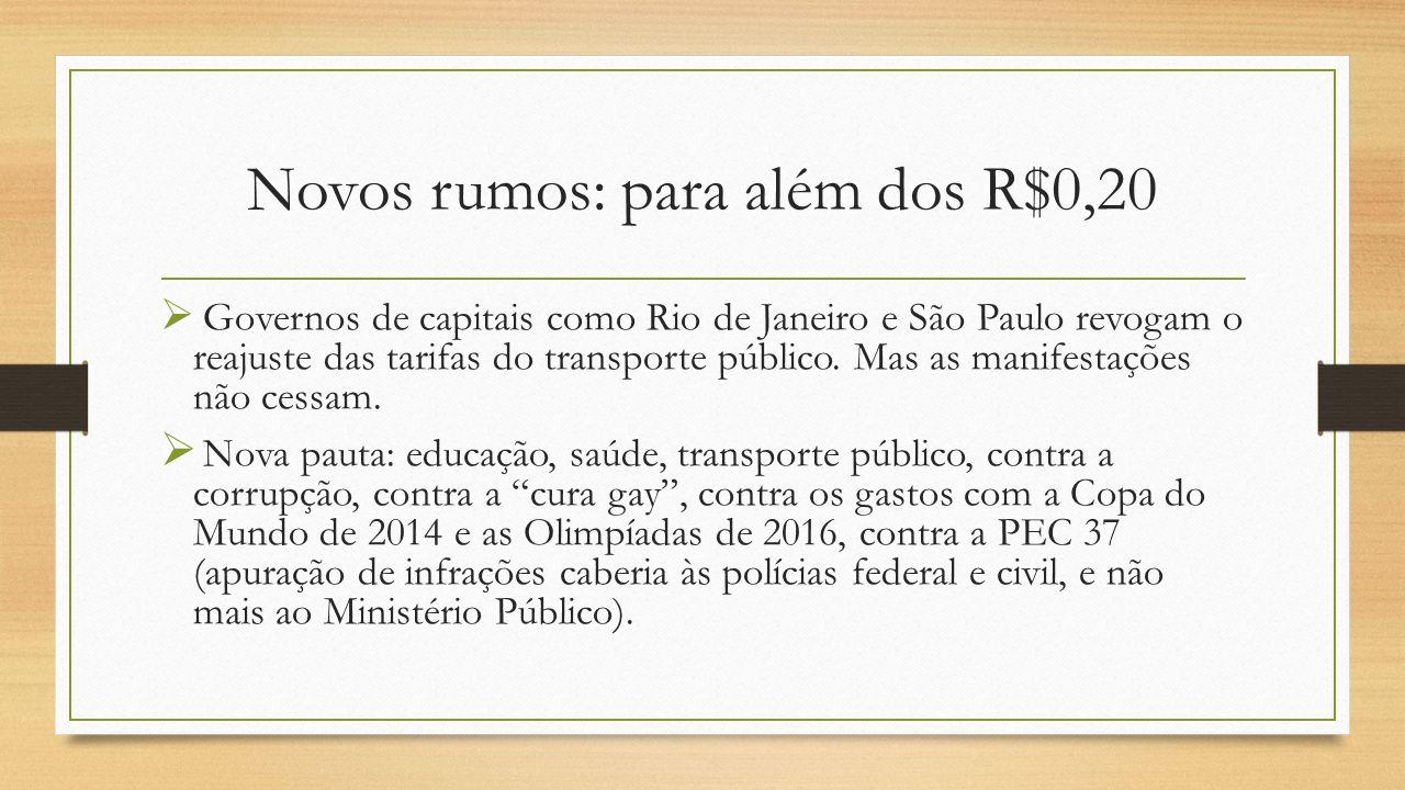 Novos rumos: para além dos R$0,20  Governos de capitais como Rio de Janeiro e São Paulo revogam o reajuste das tarifas do transporte público.