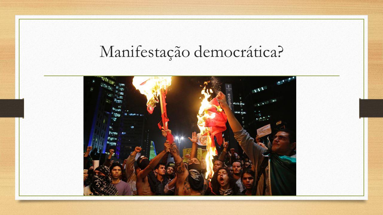 Manifestação democrática