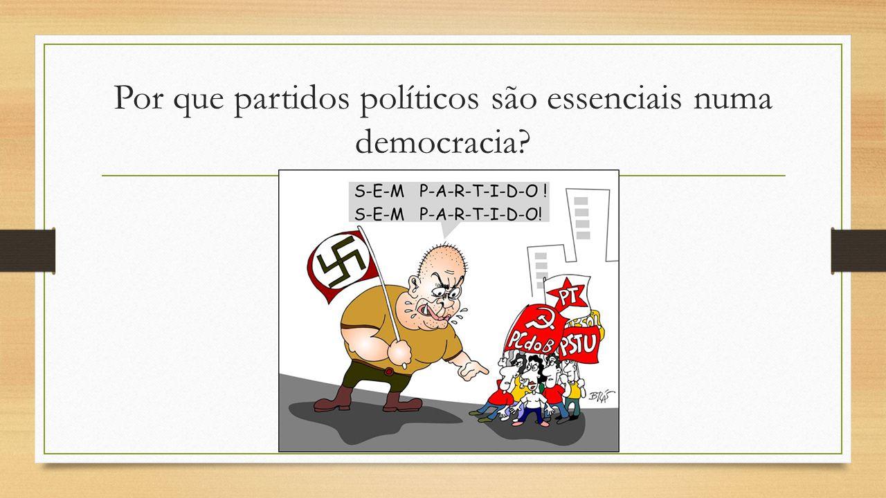 Por que partidos políticos são essenciais numa democracia