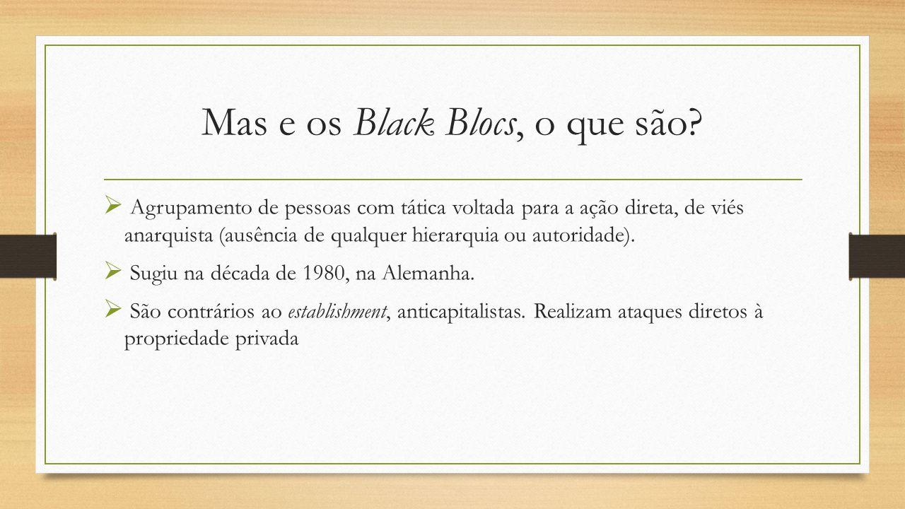 Mas e os Black Blocs, o que são.
