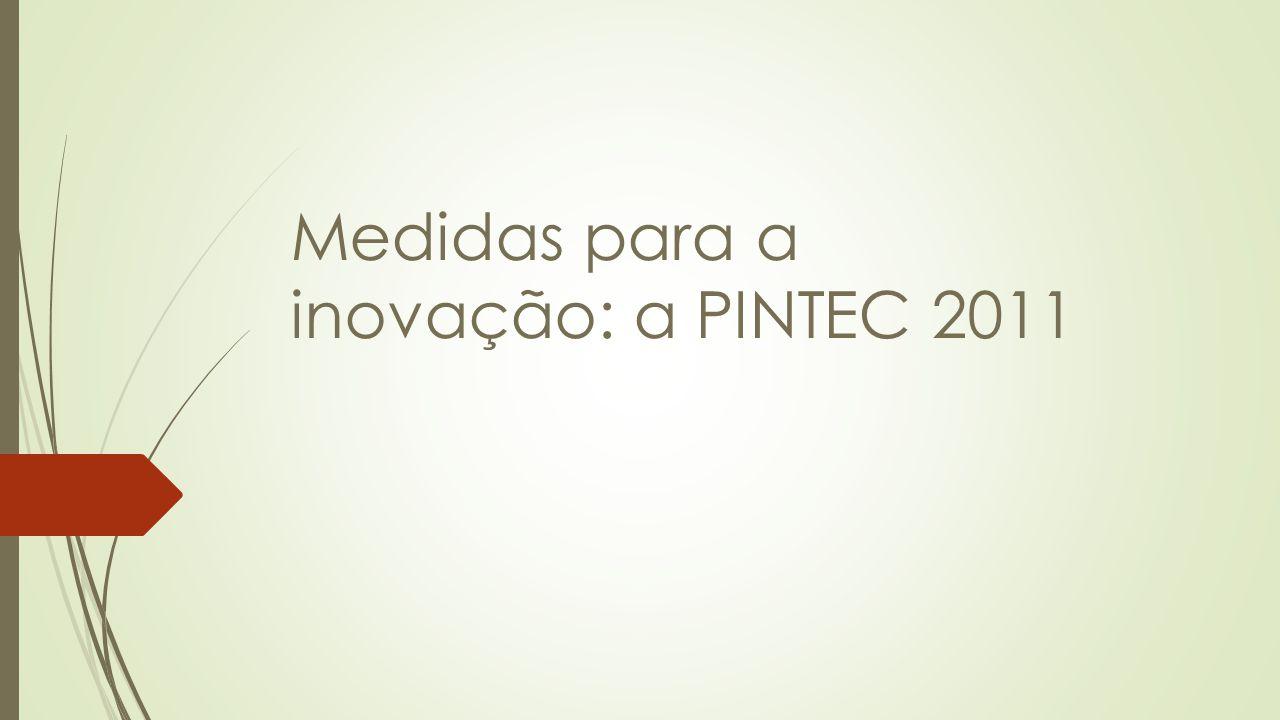 Medidas para a inovação: a PINTEC 2011