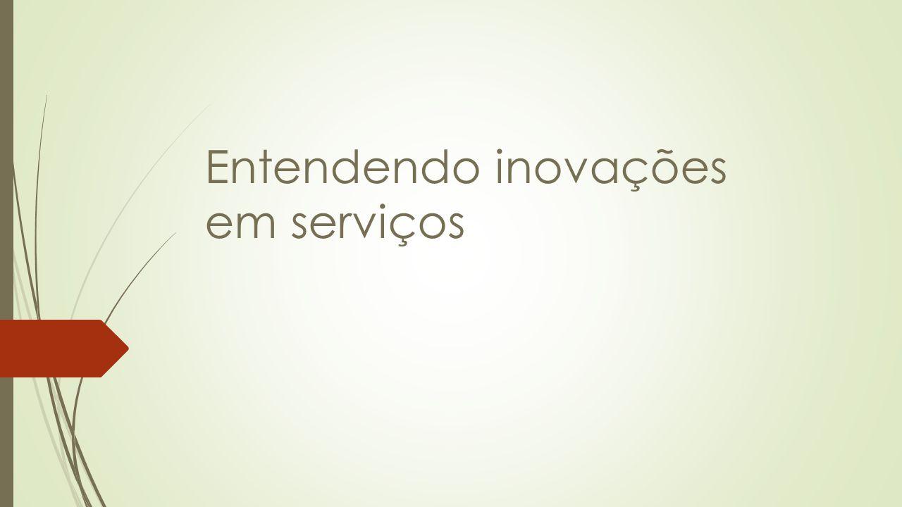 Entendendo inovações em serviços