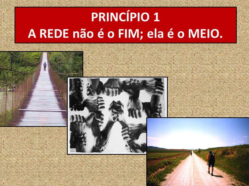 PRINCÍPIO 1 A REDE não é o FIM; ela é o MEIO.