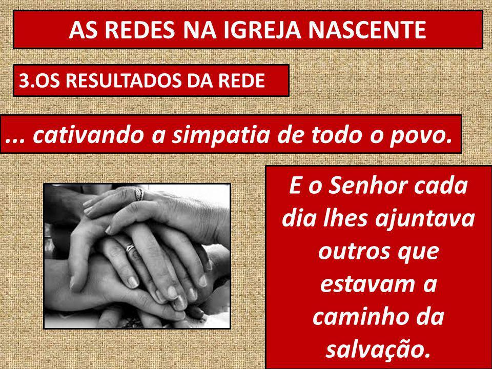 AS REDES NA IGREJA NASCENTE 3.OS RESULTADOS DA REDE...