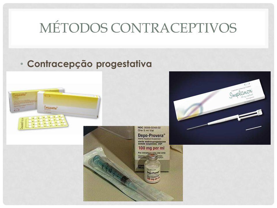 MÉTODOS CONTRACEPTIVOS Contracepção progestativa