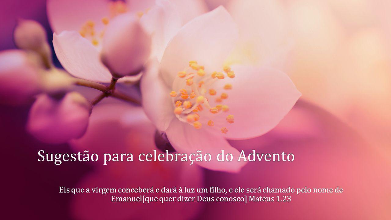Sugestão para celebração do AdventoSugestão para celebração do Advento Eis que a virgem conceberá e dará à luz um filho, e ele será chamado pelo nome